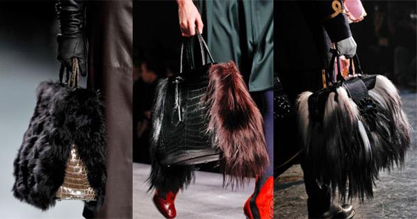 Kürklü çantalar