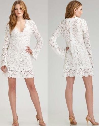 beyaz güpürlü elbise modelleri