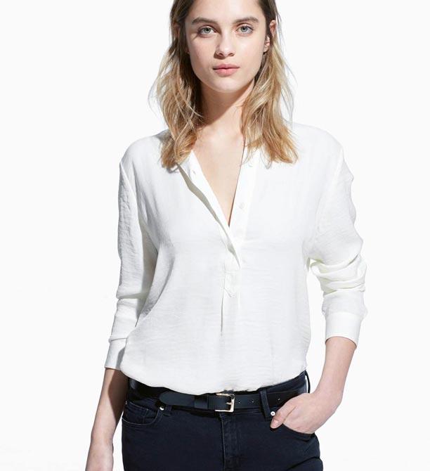 mango bayan beyaz gömlek modelleri