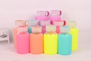 2015NewHOT-Water-Bottles-Glass-Cup-180ml-Tea-Water-font-b-Juice-b-font-5Colors-Solid-Color