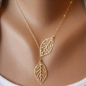 Fashion-Alloy-Gold-Plated-Vintage-font-b-Big-b-font-Leaf-font-b-Pendant-b-font